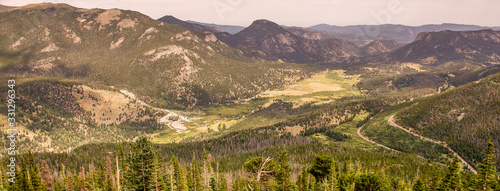 Beautiful Rocky Mountains Covered by fog, Estate Park Colorado USA