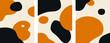 Organic Minimalist Art Orange and Black set vector