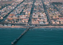 Aerial Picture Of The City Of Swakopmund In Western Namibia