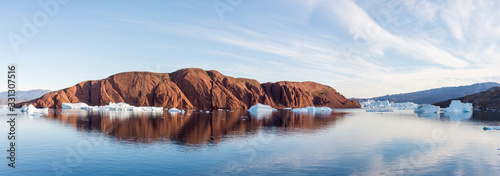 Beautiful landscape with iceberg in Greenland at summer time. Su Wallpaper Mural