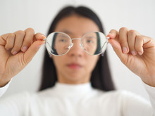 Astigmatism In Asian Woman Wit...