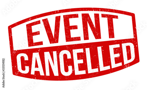 Event cancelled sign or stamp Canvas Print