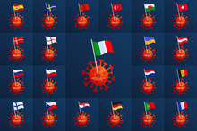 Set Vector Europe Country Flag...