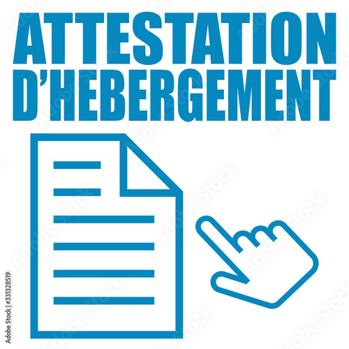 Photo Logo attestation d'hébergement.