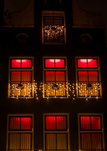Red Light Building In Amsterdam
