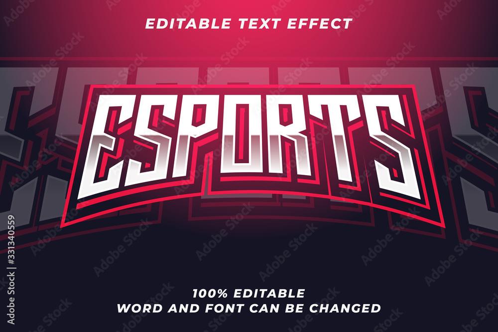 Fototapeta Esport text style effect Premium Vector