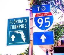 Florida Turnpike Sign I-95 Interstate Metal Sign