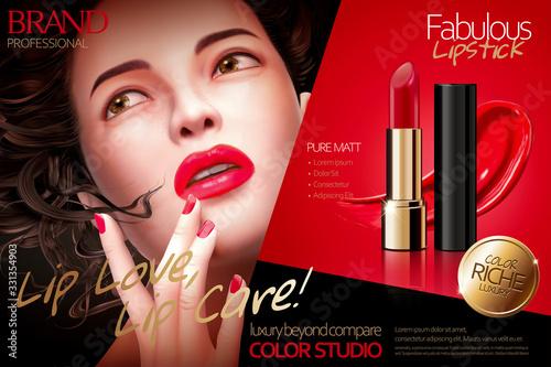 Fabulous lipstick ads Fototapet