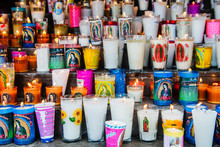 Group Of Colorful Candles Outs...