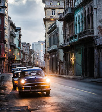 Traffic In Old Havana In The E...
