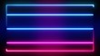 Abstract background animation TV neon glow color frame screen ultraviolet spectrum 4K loop