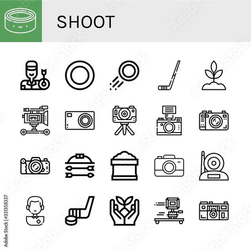 Fototapety, obrazy: shoot simple icons set