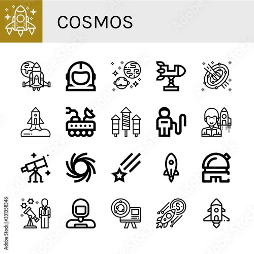 Set of cosmos icons