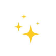 Star Blink Icon .Vector Illustration. Flat Design