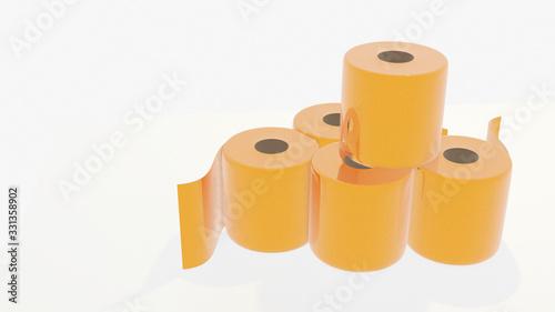 Fotomural gold toilet paper