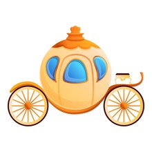 Cinderella Carriage Icon. Cart...