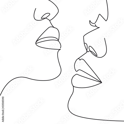 Photographie Continuous One Line Drawing