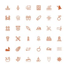 Editable 36 Sea Icons For Web ...