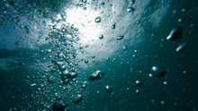 Air Bubbles Underwater, Natura...