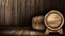 Wood Barrels For Wine Or Beer....
