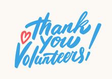 Thank You Volunteers. Vector L...