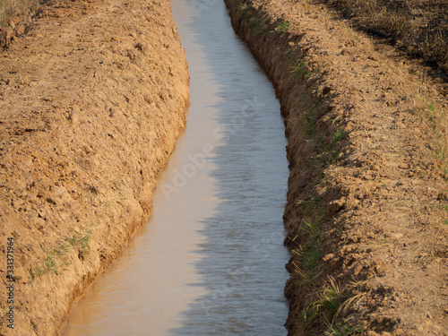 Pumping for alleviating drought from global warming Canvas Print