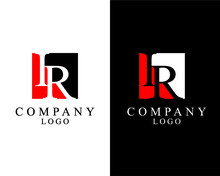 IR, RI Logo Letter Square Shape Logo Vector For Company Identity.