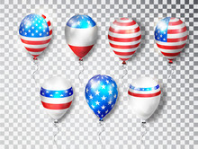 Patriotic Balloons USA Set. Co...