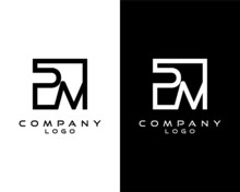 PM, MP Letters Logo Design. Simple And Creative Letter Concept Illustration Vector