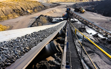 Coal Ore On A Conveyor Belt Fo...
