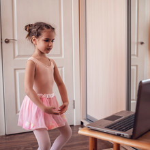 Young Ballerina Practicing Cla...