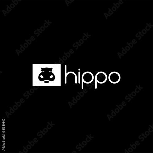 Valokuvatapetti 2. hippo cute logo