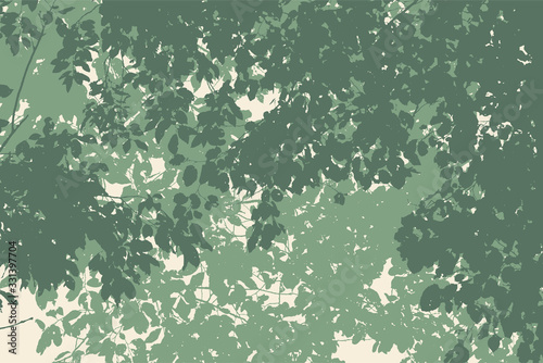 tree and branches silhouette. detailed vector illustration Canvas Print
