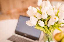 Bouquet Of Tulips Flowers In G...