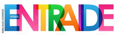 Bannière typographique vecteur ENTRAIDE Canvas Print