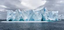 Iceberg In Antarctica Sea. Por...