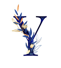 Watercolor Letter Y - Hand Pai...