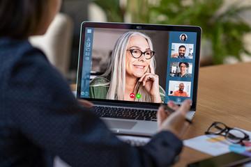 Fototapeta na wymiar Business team in video conference
