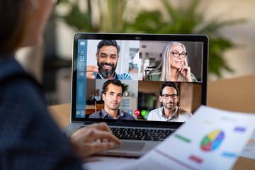 Fototapeta na wymiar Smart working and video conference