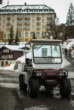Transport Golf Cart With Snow ...