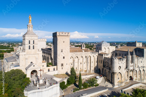 Aerial view of Avignon Canvas Print