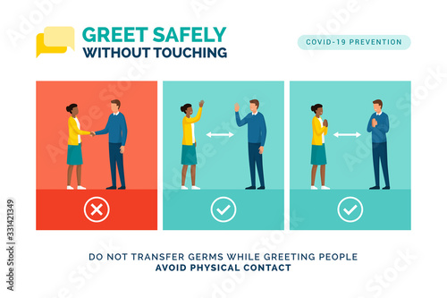 How to greet safely without touching Canvas Print