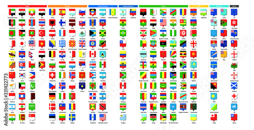 Papel de parede 世界の国旗 - 四角ピン | National flag - Square pin ◆ アジア39ヶ国・ヨーロッパ41ヶ国・北アメリカ23ヶ国・南アメリカ12ヶ