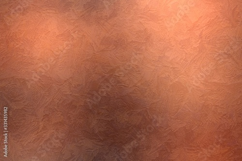 Obraz Stucco textured wall copper color. Brush strokes pattern. Old golden  abstract background. - fototapety do salonu