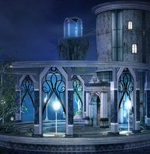 Elves Palace In A Blue Night S...