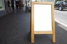 Blank White Outdoor Advertisin...