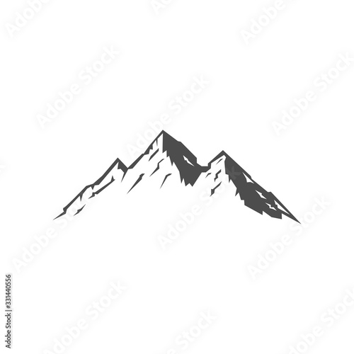 Mountains logo design vector template element illustration Wallpaper Mural