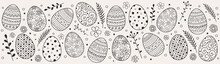 Beautiful Easter Eggs - Decoration. Vector