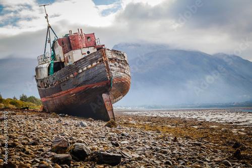 Corpach shipwreck at Loch Linnhe Canvas Print