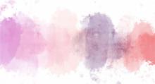 Vintage Pink Watercolor Backgr...